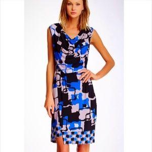 Marc New York Draped Printed Jersey Dress XL